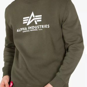 Alpha Industries Basic Sweater Logo - Dark Green