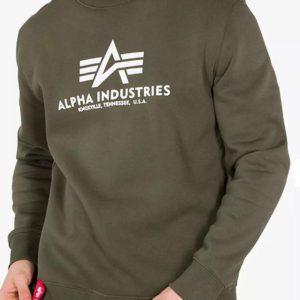 Alpha Industries Basic Sweater Logo - Dark Green