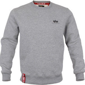Alpha Industries Basic Sweater Small Logo - Grey Heather (188307/17)