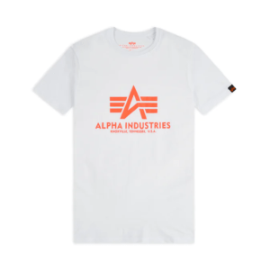 Alpha Industries Basic T-Shirt - White/Neon Orange (100501/480)