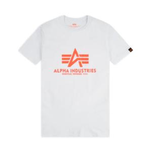 Alpha Industries Basic T-Shirt - White/Neon Orange (100501/480)