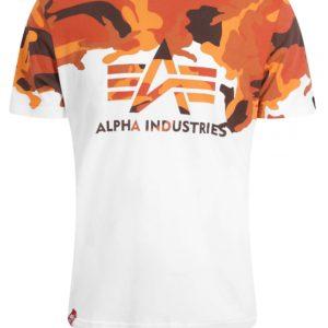Alpha Industries Lost Camo T-Shirt - Orange Camoflauge (196505/309)