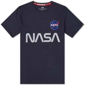 Alpha Industries NASA Reflective T-Shirt - Rep Blue (178501/07)