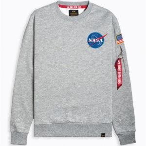 Alpha Industries Space Shuttle Sweatshirt - Grey Heather (178307/17)