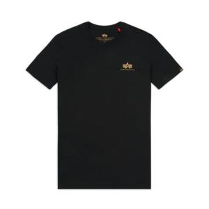 Alpha Industries Basic Small Logo T-Shirt - Black/Gold (188505/365)