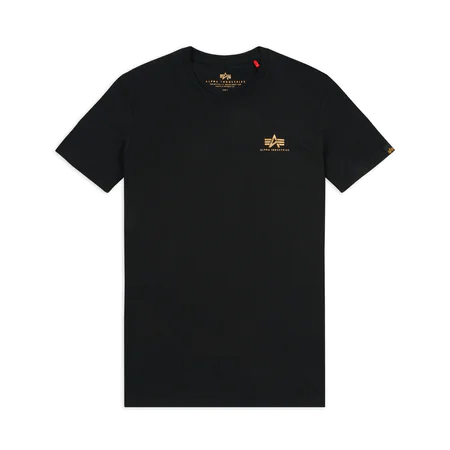 Alpha Industries Basic Small Logo T-Shirt - Black/Gold (188505/365)
