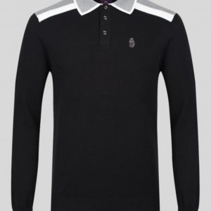 Luke Oh Yeah Oh Yeah Knitted Polo - Jet Black (M560 602)