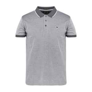 Weekend Offender Sonny Polo Shirt - Charcoal White (POAW2006)
