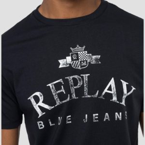 Replay Organic Cotton Solid Colour T-Shirt - Navy (M3141)