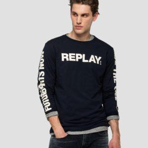 Replay Long Sleeve T-Shirt – Navy (M3149)