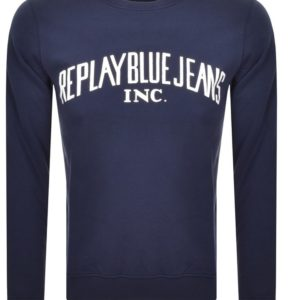 Replay Blue Jeans Crewneck Sweatshirt - Navy (M3231)