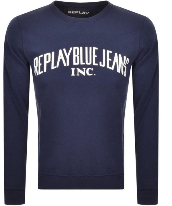 Replay Blue Jeans Crewneck Sweatshirt - Navy (M3231)