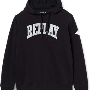Replay Black Hooded Sweatshirt (M3233)