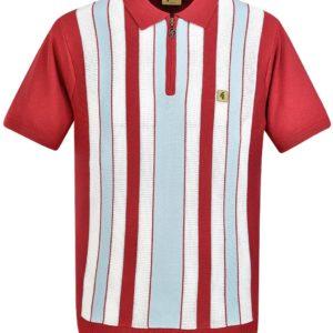Gabicci Colt Knitted Polo Shirt - Lava (V44GM05)