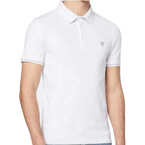 Guess Stretch Cotton Polo - White (M02P45J1300-TWHT)
