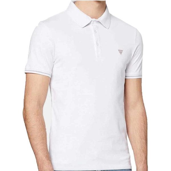 Guess Stretch Cotton Polo - White (M02P45J1300-TWHT)