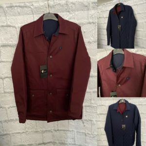 Gabicci Reversible Coat - Navy/Oxblood (V45GJ16)