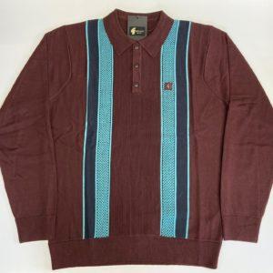 Gabicci Croxted Polo Shirt - Oxblood (V45GM06)