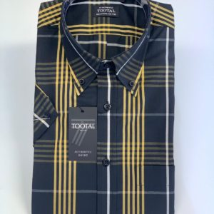 Tootal Plaid Check Shirt - Black/Yellow (TL9204HB-754)