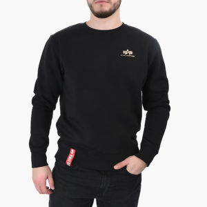 Alpha Industries Basic Sweater Small Logo Black/Gold (188307/365)