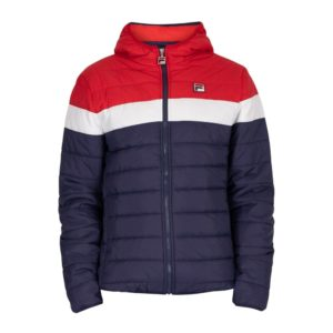 Fila Llyr Puffer Jacket - Peacoat/Cred/White (LM037818)
