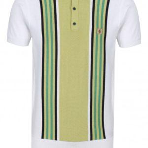 Gabicci Casbah Multistripe Polo Shirt – White (V44GM04)