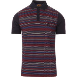 Gabicci Dino Stripe Polo Shirt - Navy (V45GX07)