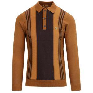 Gabicci Searle Knitted Polo Shirt – Toffee (V43GM00)