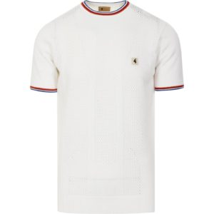 Gabicci Tablo Knitted T-Shirt - White (V44GM14)