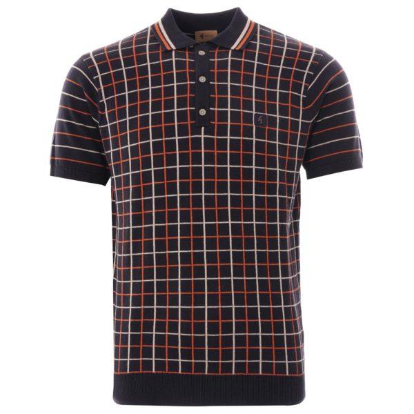 Gabicci Chrono Knitted Polo Shirt - Navy (V44GM01)