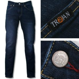 Trojan Zip Fly Stretch Jeans - Dark Wash