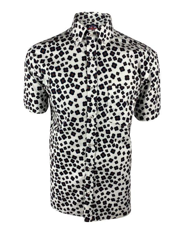 Ska & Soul Floral Print Short Sleeve Shirt (SS/2356)