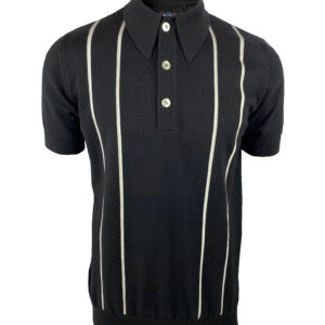 Ska and Soul Knitted Polo Shirt - Black (SS/2352)
