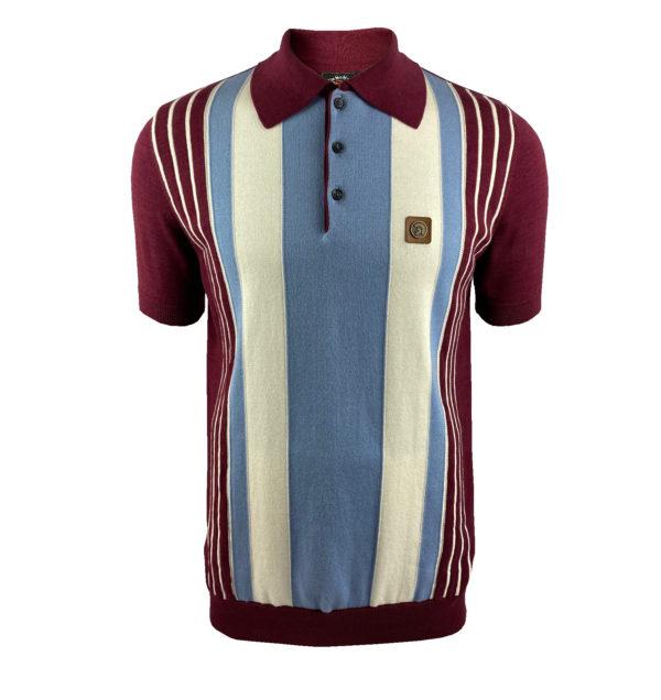 Trojan Multi-Stripe Fine Gauge Polo Shirt – Port