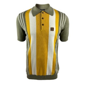 Trojan Multi-Stripe Fine Gauge Polo Shirt - Slate (TR/8562)