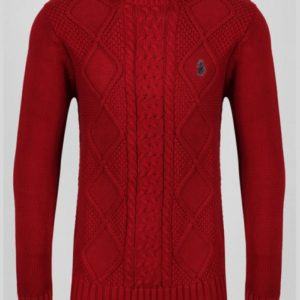 Luke 1977 Horton Court Knit Jumper - Red (M450619-R)