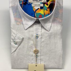 Claudio Lugli Short Sleeve Shirt – White (CP6401-W)