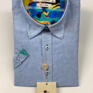 Claudio Lugli Short Sleeve Shirt – Sky (CP6401-S)