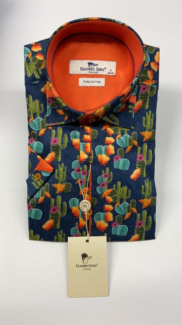 Claudio Lugli Short Sleeve Shirt – Navy (CP6407)
