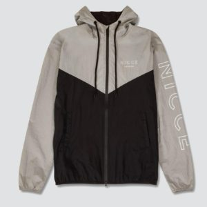 Nicce London Windbreak Runner Jacket - Black/Grey (NC211)