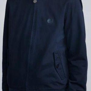 Pretty Green Cotton Harrington Jacket - Navy (C7GMU13319144)