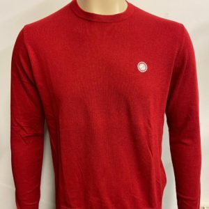 Pretty Green Crew Neck Knitted Jumper - Red (A8GMU38019935)