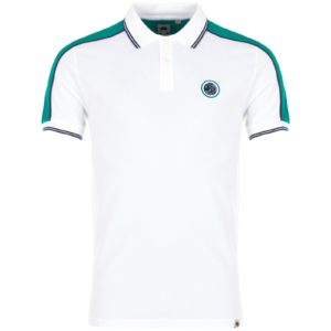Pretty Green Contrast Panel Tipped Polo - White (S20MUI4000066)