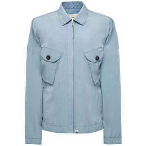 Pretty Green Two Pocket Zip Through Overshirt - Blue (S20MUII000046)