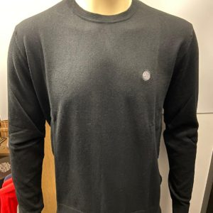 Pretty Green Crew Neck Knitted jumper - Black (C7GMU37419134)