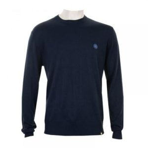 Pretty Green Crew Neck Knitted Jumper - Navu (C7GMU37419134-N)