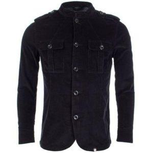 Pretty Green Corduroy Button Up Jacket - Black (C7GMUI3279456)