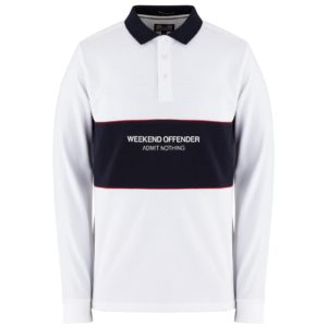 Weekend Offender Meridia Long Sleeve Polo - White (POAW1913)