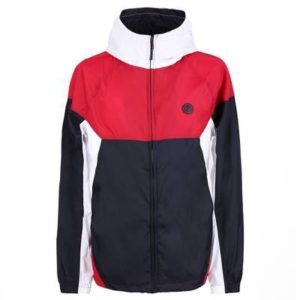 Pretty Green Mens Zipthrough Hooded Contrast Jacket - Red/Navy/White (A8GMU14889785)