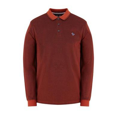Weekend Offender Herrera L/S Polo - Cinnamon (POAW1905)